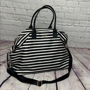 Kate Spade Striped Weekender bag